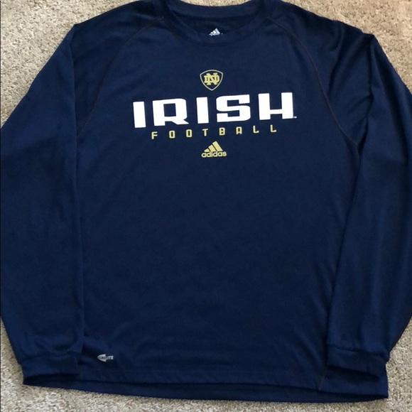 87290974f70d90 adidas Other - Adidas Notre Dame Irish Football Long Sleeve Shirt